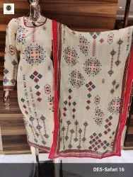 Exclusive Maslin Embroidered Suit