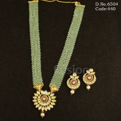 Fusion Arts Kundan Meenakari Bridal Necklace Set