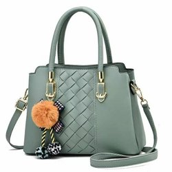 Grey Plain Ladies Polyurethane Casual Bag
