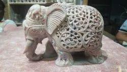 Stone Large Elephant Figurines, for Interior Decor