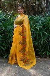 Indiaattires Banarasi Silk Designer Net Wedding Wear Sarees