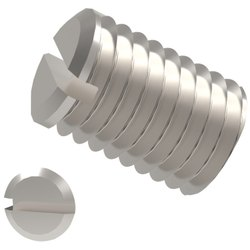 Slotted Set Screws with Flat Point