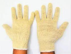 SS & WW Make Full Finger Unisex 60 Gram Cotton Knitted Safety Hand Gloves