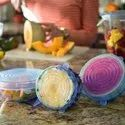 Silicone Lids Microwave Safe Flexible Covers For Rectangle Round Square Bowls Dishes Plates