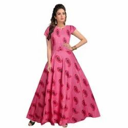 Pink Women Gown, Size: Free Size