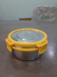 STAINLESS STEEL LUNC BOX WITH PLASTIC LOCK