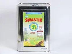 Swastik 15 Kg Kachi Ghani Mustard Oil, Packaging Type: Tin