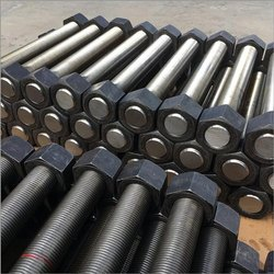 M30 X 400 L Stainless Steel Stud Bolt, For Industrial, Grade: 304
