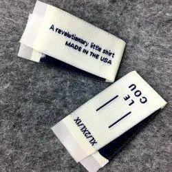 White Taffeta Woven Label, For Garments, Packaging Type: Packet