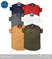 Colorhunt Cotton Men Dot Printed Formal Shirt, Machine wash