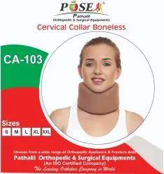 POSE Contoured Shape Cervical Collar Soft Bone Less For Neck Support, Model Name/Number: CA-103