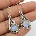 Dangle 925 Sterling Silver White Cz Earrings, 5.2 Gm