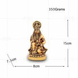 Gold Plated Hanuman Idol