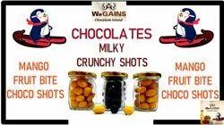 Oval Milky Crunchy Shots Chocolates, 1Kg