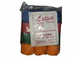 Lotus Plain Dyed Polyester Sewing Thread, Packaging Type: Reel