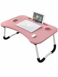 Plywood Board Pink and White Foldable Laptop Table