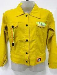 Plain Yellow Kids Full Sleeves Jacket