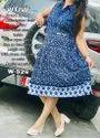 Super Rayon Printed Collar Button Dress Cum Kurti, 18 To 50