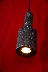 Fluorescent Bulb Wooden Black Hanging Lamp, For Decoration