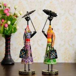Iron Umbrella Doll Handmade Decorative Table Decor, Size/Dimension: 10.2 X 10.2 X 40.6 Cm