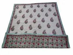 Cotton Handblock Reversible Quilt