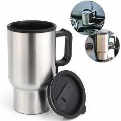 Steel Electric Mug 12 V Car Charging Electric Kettle Travel Coffee Mug Cup Heated Thermos 450 Ml