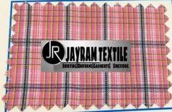 Pink Chex Tamil Nadu School Uniform Fabric