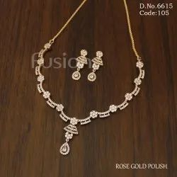 Fusion Arts American Diamond Party Necklace Set