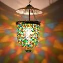 Glass Mosaic Hanging Light