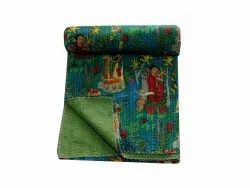 Indian Handmade Frida Print Kantha Bedcover