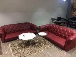 Designer Leather Sofa Set, For Sitting