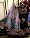 Present Velvet Designer Lahenaga Choli With Heavy Embroidery Work