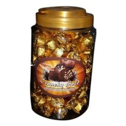 Round Crunchy Gold Chocolate Candy