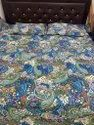 Screen Print Reversible Bed Comforter With Tow Pillow
