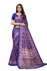 Printed Daily Wear Linen Saree