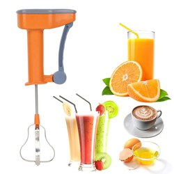 Power Free Hand Blender for Kitchen,Manual Blender for Whipping Cream Egg Beater Milkshake Lassi