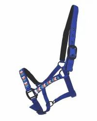 Horse Blue Synthetic Halter, Full Size