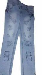 Skinny Button Ladies Fancy Casual Wear Jeans