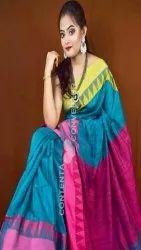 6.5m Wedding Ladies Ponduru Khadi Saree, With Blouse Piece