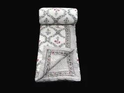 Indian Printed Cotton Quilt