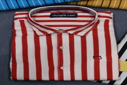 Jungle Man Cotton Men Striped Fancy Shirt, Size: 38