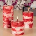 Fragrance Pillar Candle Gift Set Of 3 In Ethnic Finish