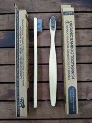 Bamboo Toothbrush With GREY ACTIVATED CHARCOAL Bristles.