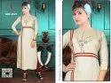 Adeena Straight Beige Embroided Designer Kurti