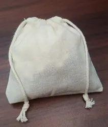 100% Organic Cotton Muslin Tea Pouch
