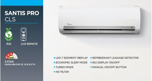 Midea 2.0 Ton 3 Star Split Air Conditioner
