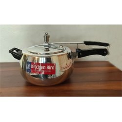 Kitchen Bird Silver 5.5 L Pressure Cooker, For Home, Size: 5lt