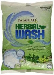 Neem Extract, Rose Patanjali Herbal Wash Detergent Powder, For Laundry, 1 Kg