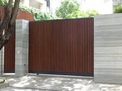 Hinged Mild Steel MS Entrance Gate, For Residential