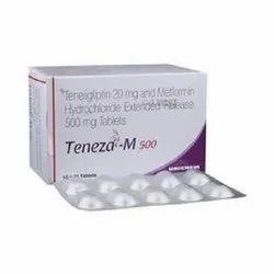 Teneza-M 500 ( Teneligliptin 20 Mg & Metformin Hydrochloride Extended 500 Mg Tablets)